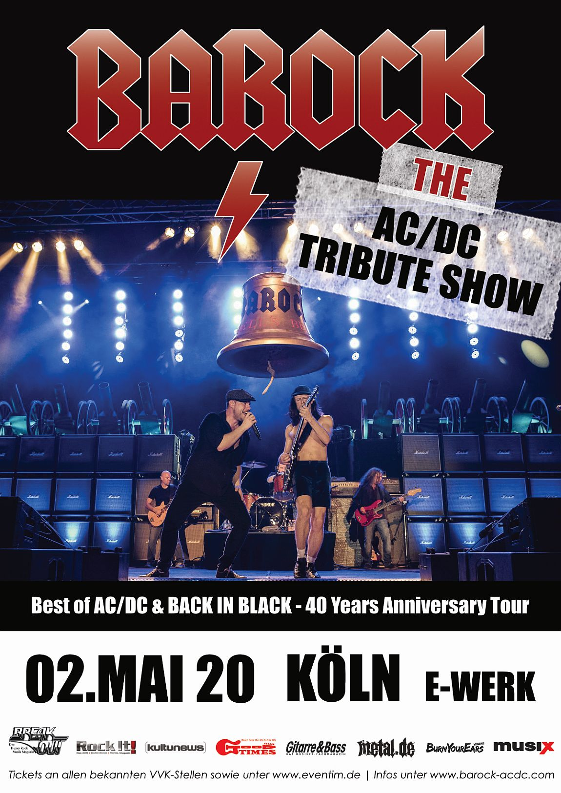Barock 40 Years Back In Black Anniversary Tour