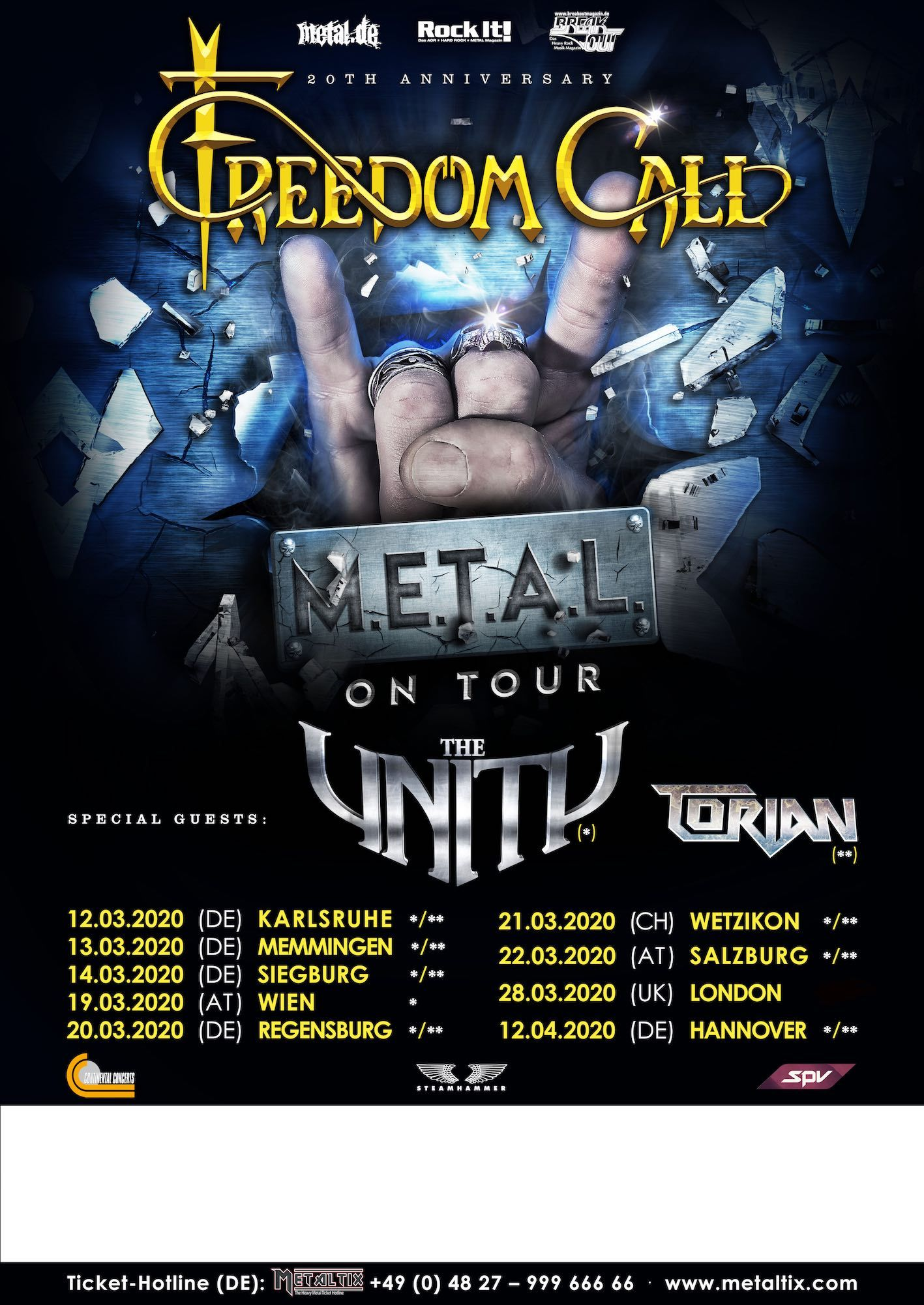 Freedom Call Metal On Tour