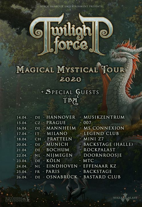 Twilight Force Tour 2020 Flyer