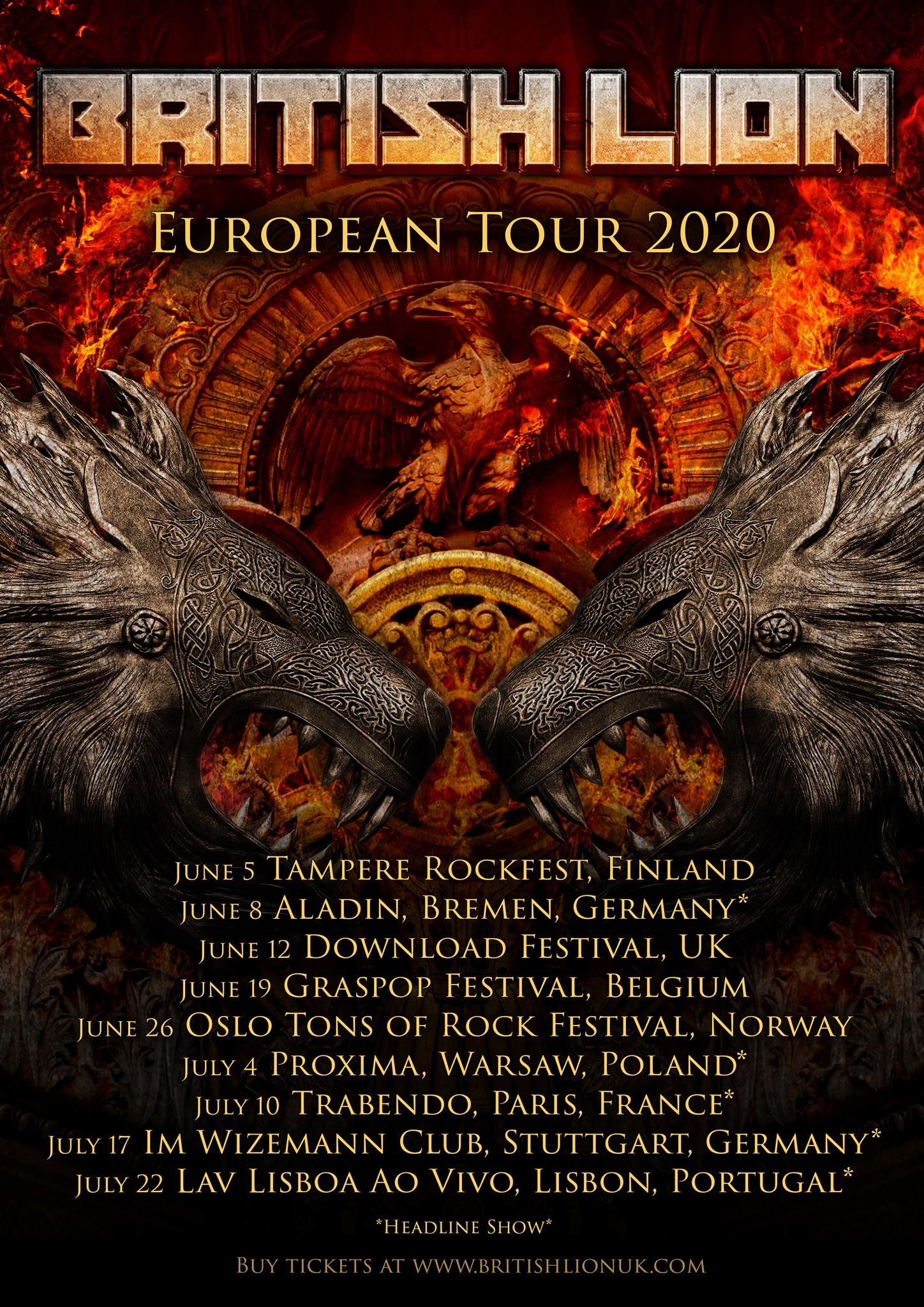 British Lion - European Tour 2020