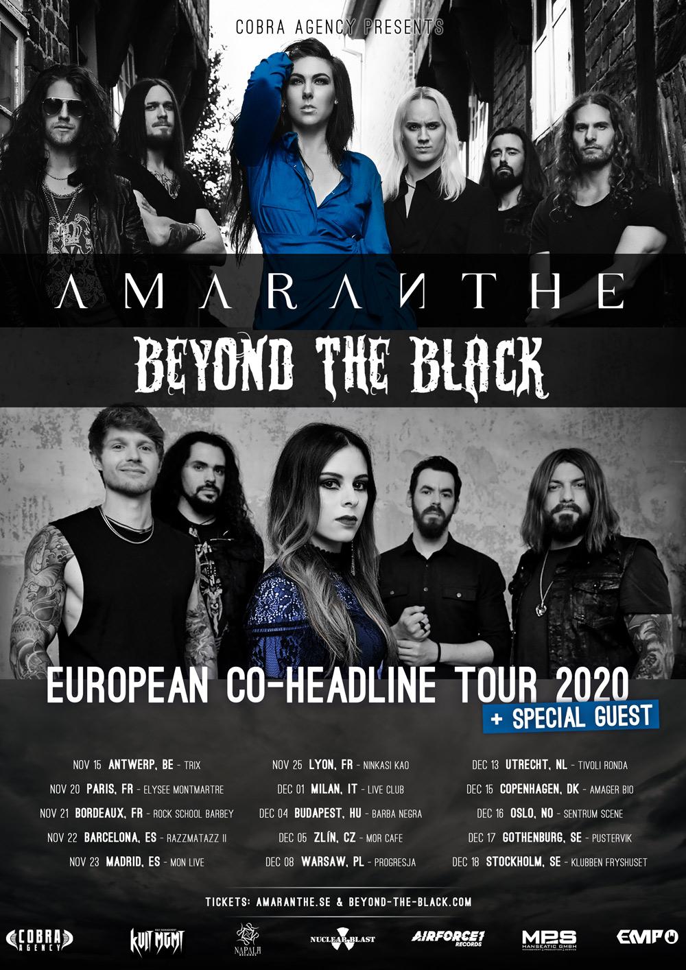 Amaranthe & Beyond The Black - Co-Headline Tour 2020