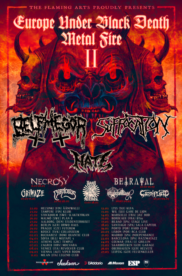 Tourplakat - Europe Under Black Death Metal Fire II