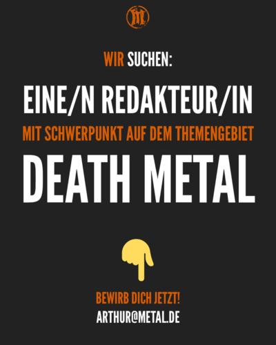 metal.de...sucht Death Metal Redakteur