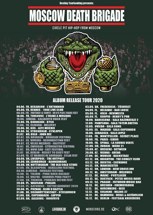 Moscow Death Brigade Tour 2020