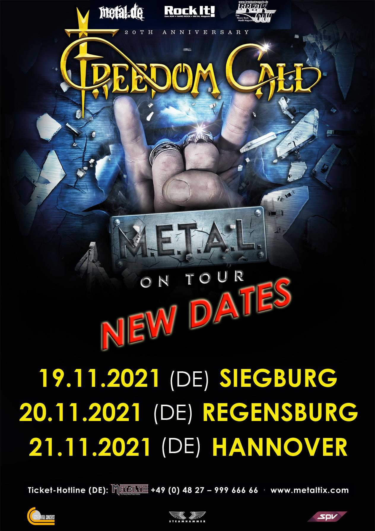 Freedom Call Tour 2021