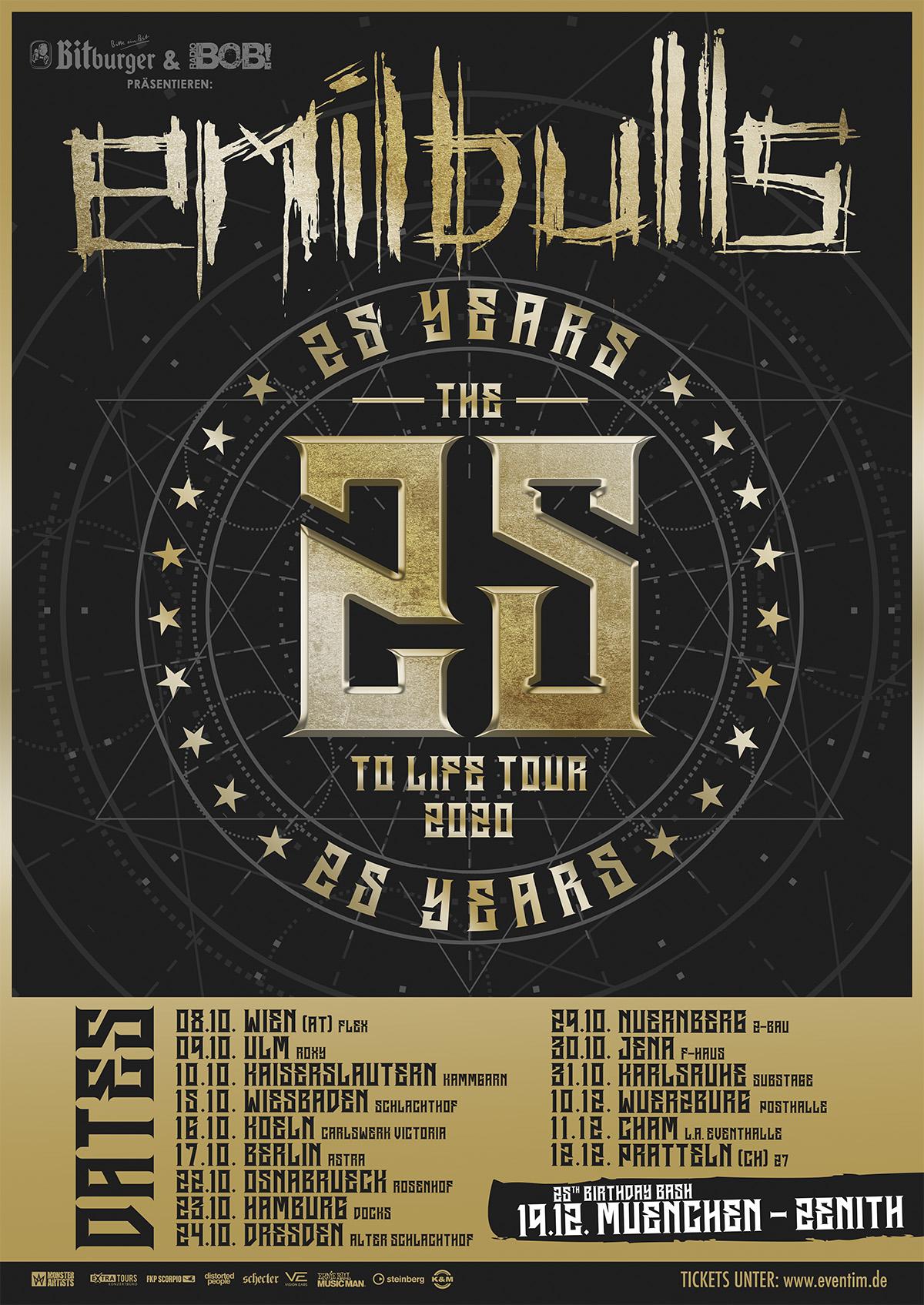 Emil Bulls - 25 25 To Life Tour 2020