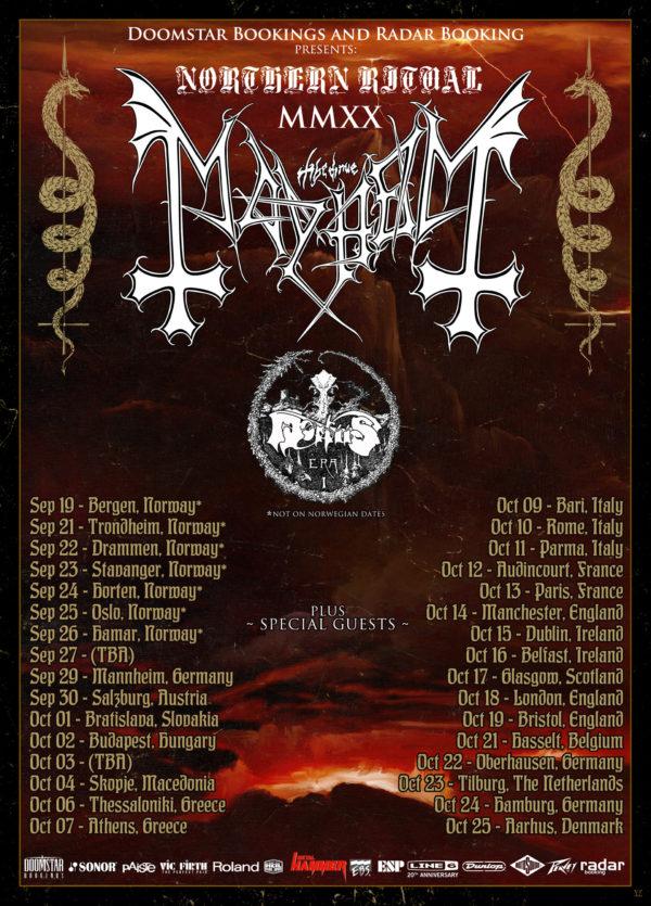 Mayhem - Northern Ritual 2020 European Tour