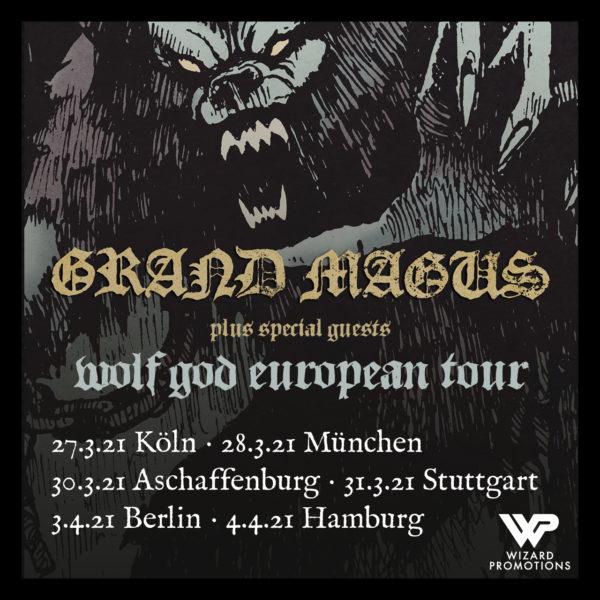Tourplakat - Grand Magus - Wolf God 2021