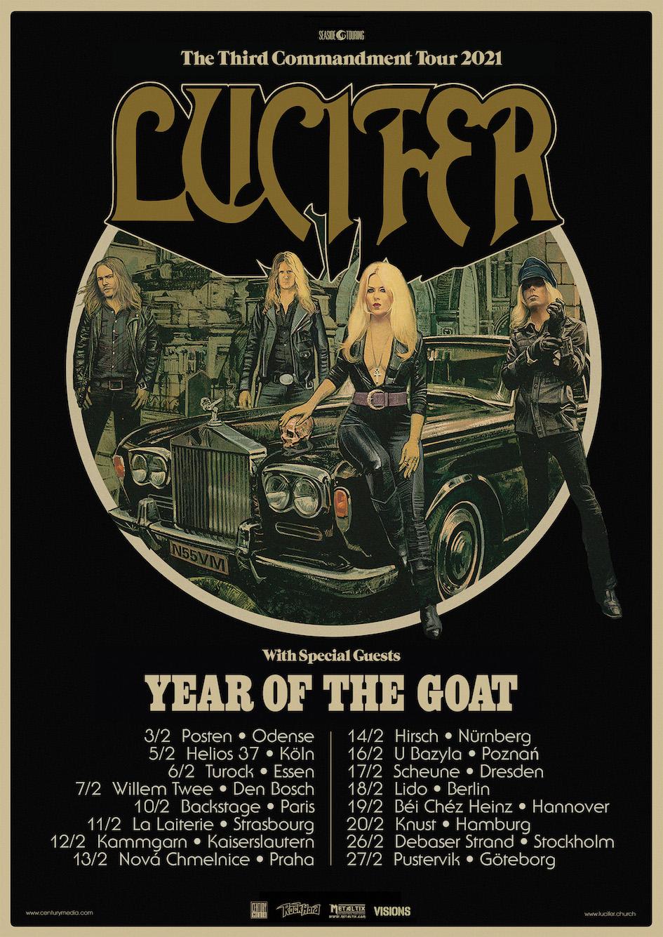 Lucifer The Thirs Commandment Tour 2021 Tourplakat