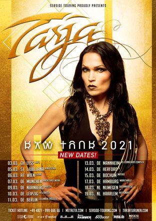 Tarja - Raw Tour 2020 durch Europa Tourplakat