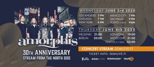 Amorphis 30th Anniversary Stream From The North Side