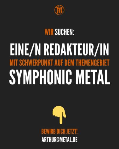 metal.de...sucht Symphonic Metal Redakteur