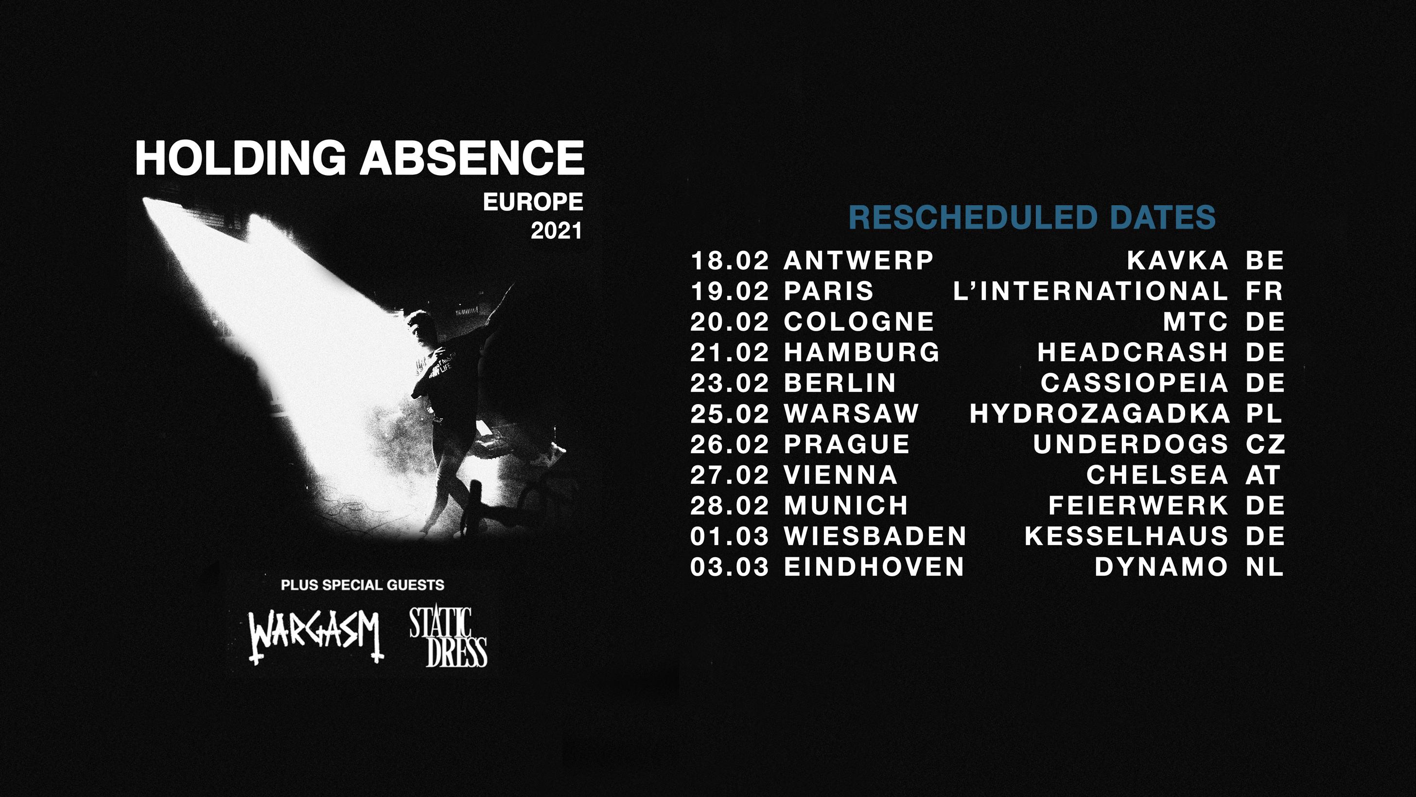 HoldingAbsence Europe Tour 2021