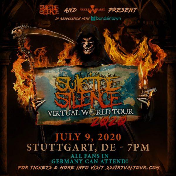Tourplakat - Suicide Silence - Virtual World Tour