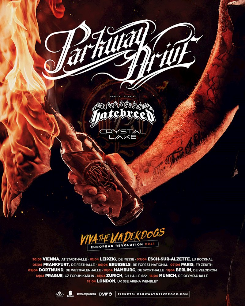 "Parkway Drive - ""Viva The Underdogs"" Tour 2021"