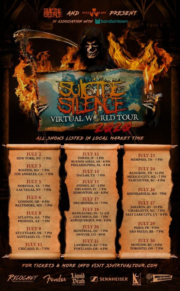 Suicide Silence - Virtual World Tour 2020