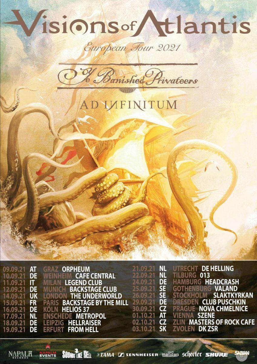 Visions Of Atlantis - Europa Tour 2021