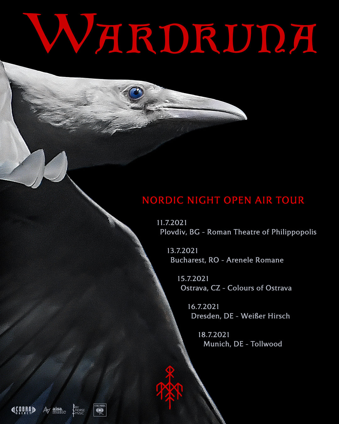 Wardruna - Nordic Night Open Air Tour Tourplakat