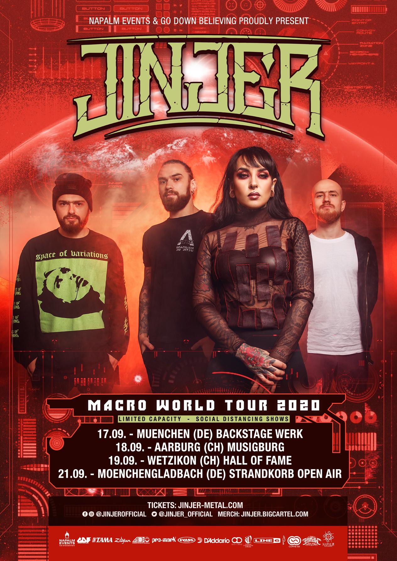 Jinjer – Macro World Tour 2020 Tourplakat