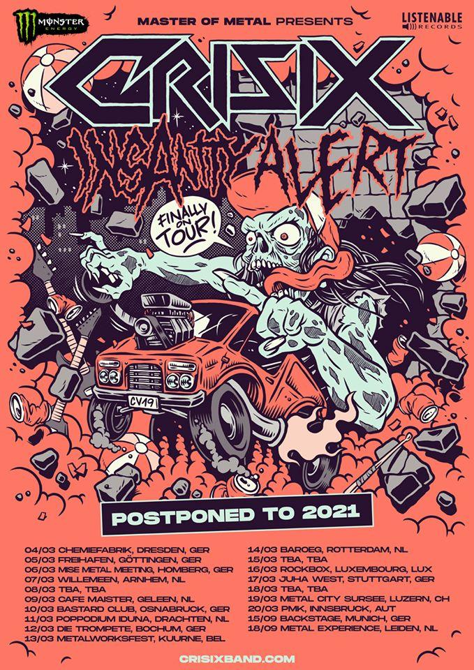 Crisix Tour 2020 Flyer