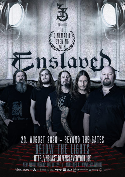 """Enslaved - Beyond The Gates' """"Below The Lights"""" Cinematic Summer Tour"""