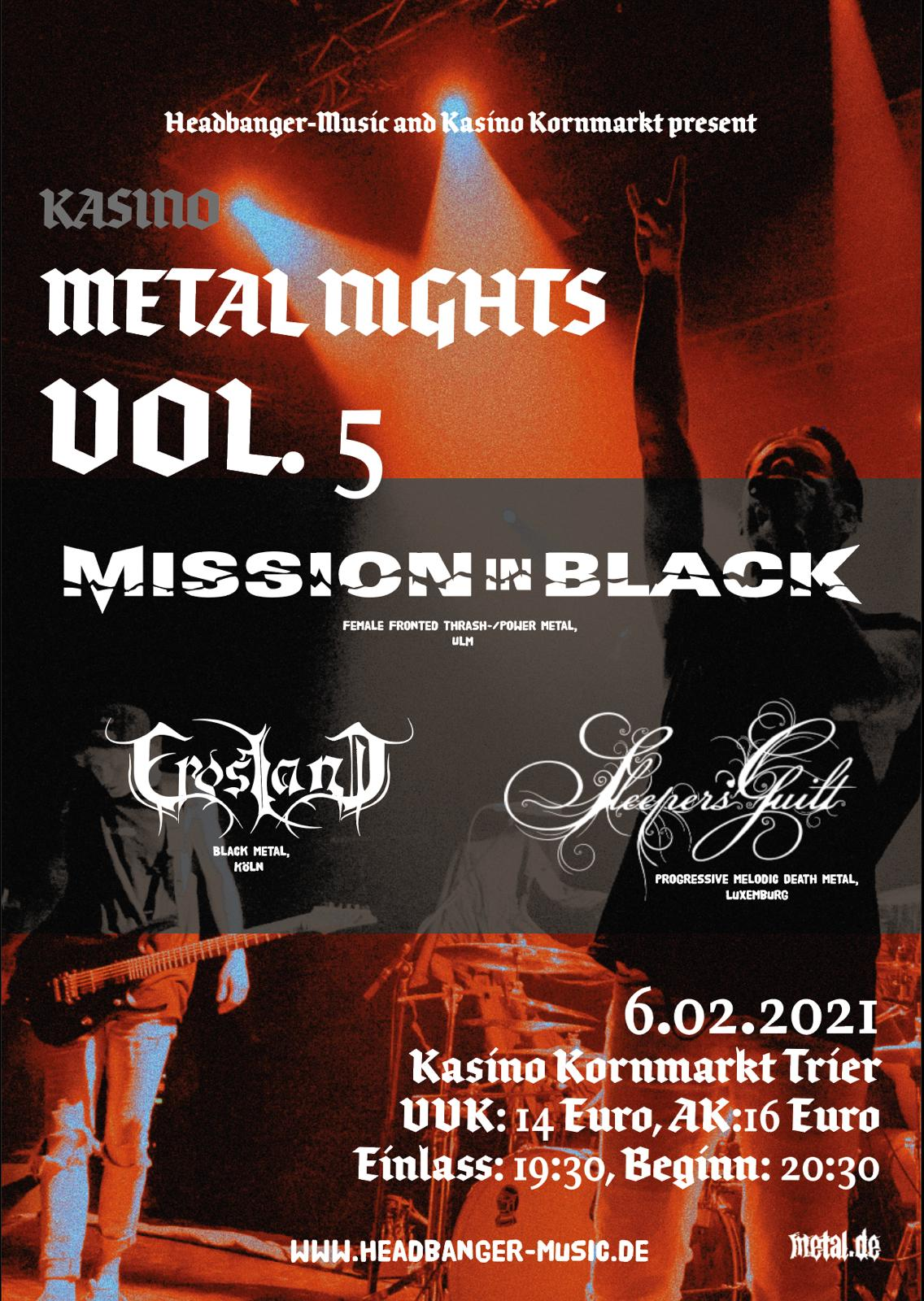 Poster Kasino Metal Nights 5