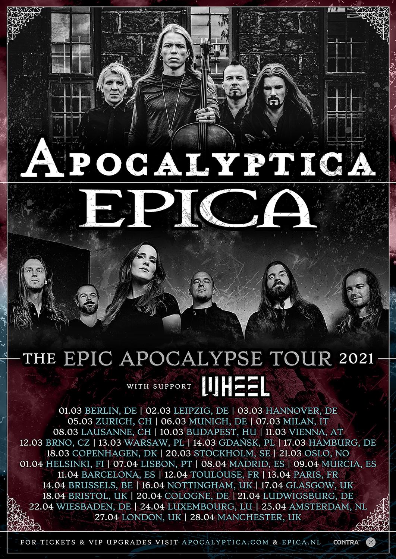 Apokalyptica & Epica Tourflyer 2021