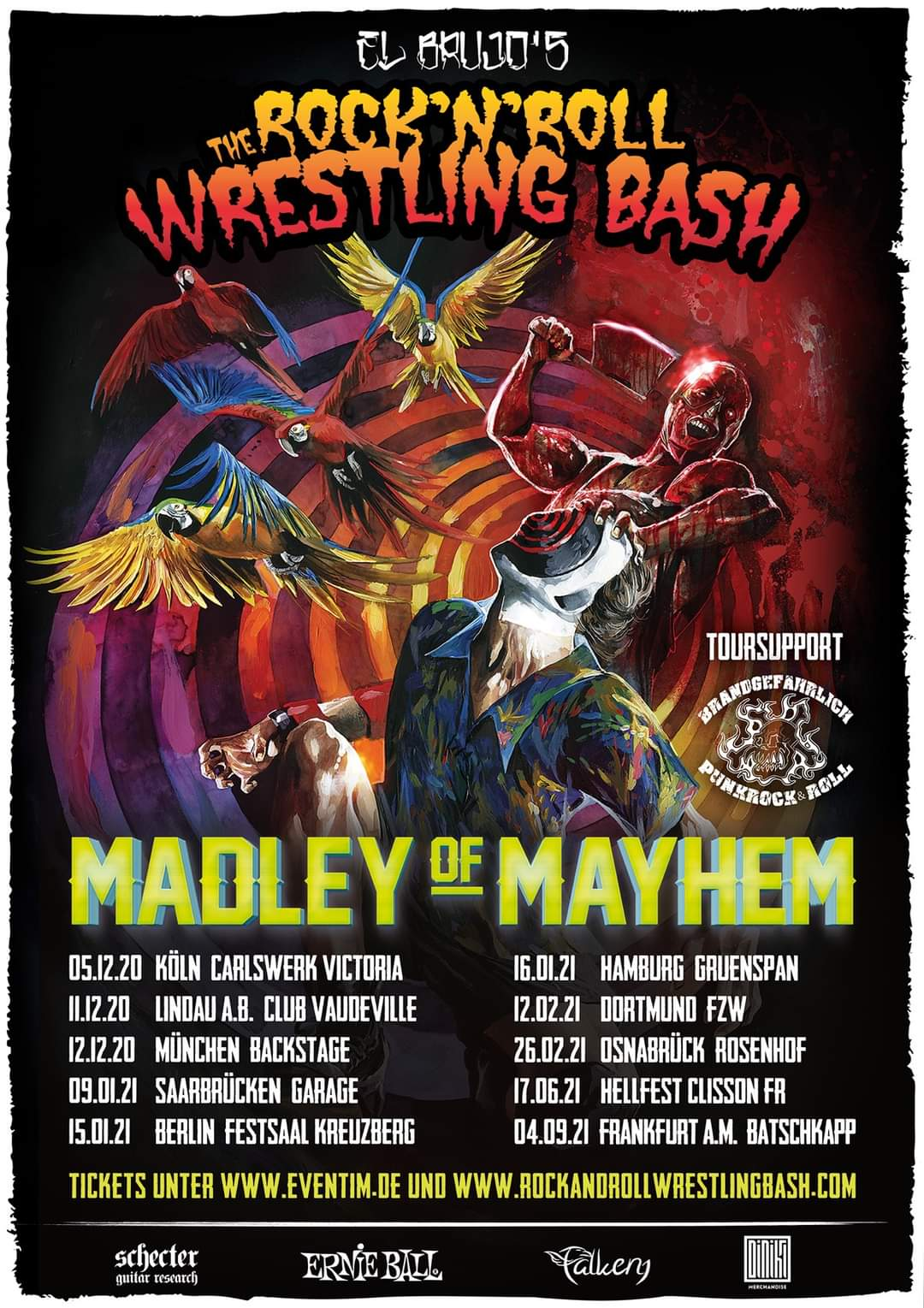 "The Rock´n´Roll Wrestling Bash ""Madley Of Mayhem"" Tour 2020/21"