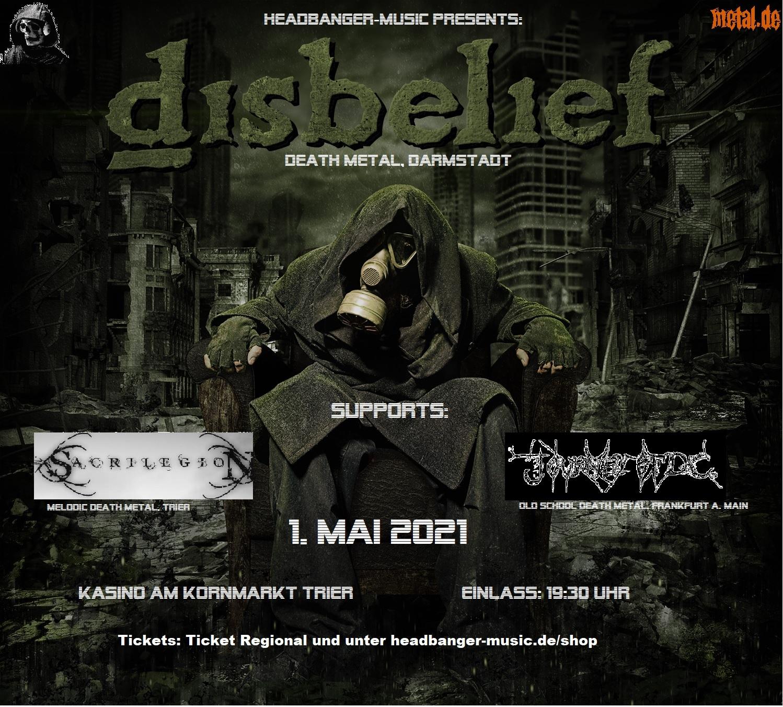 DISBELIEF in Trier veranstaltet von Headbanger-Music