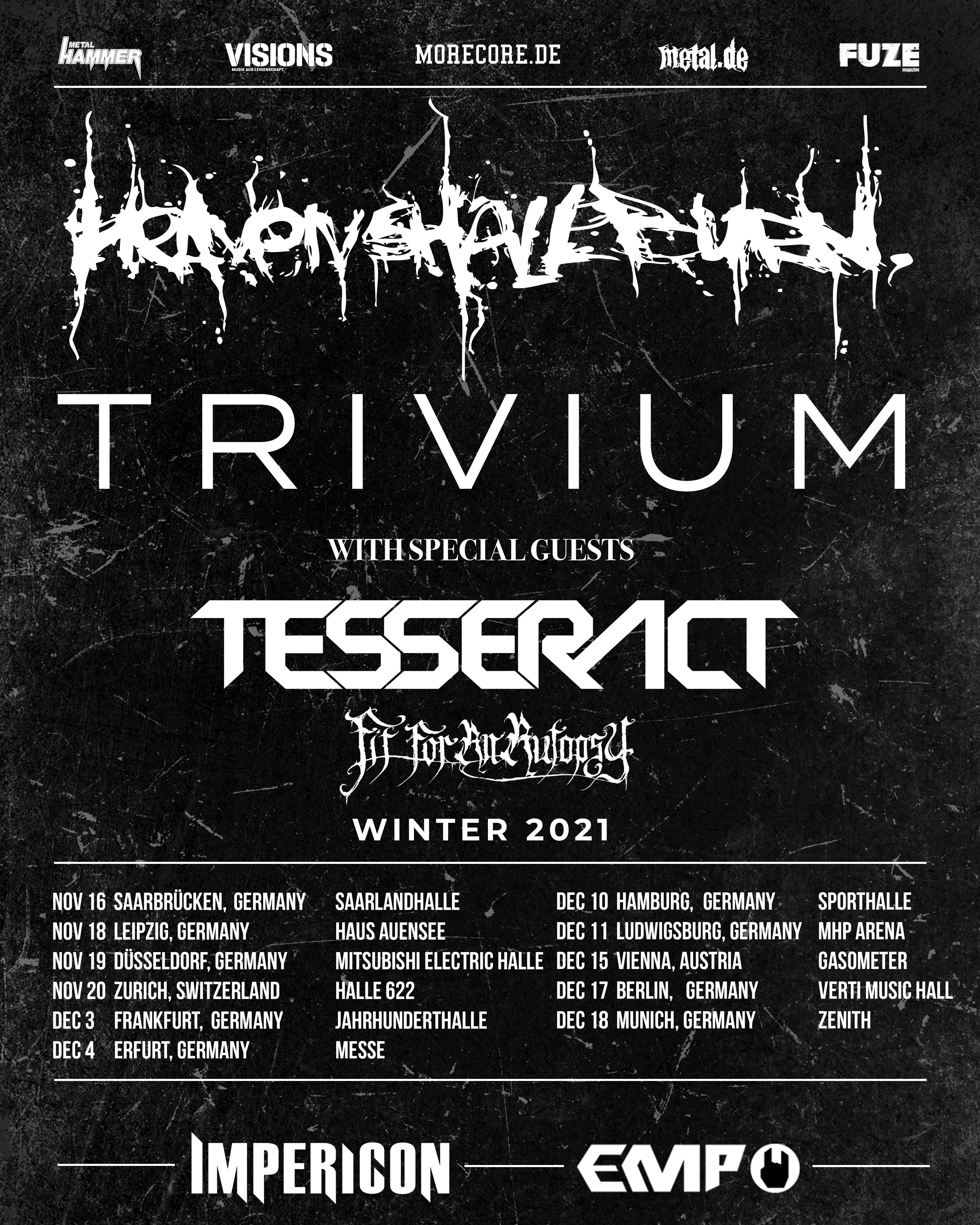 HSB+Trivium Tour 2021