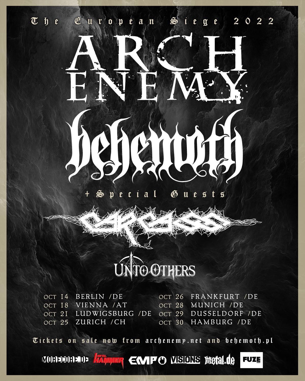 Arch Enemy + Behemoth - The European Siege Tour 2022