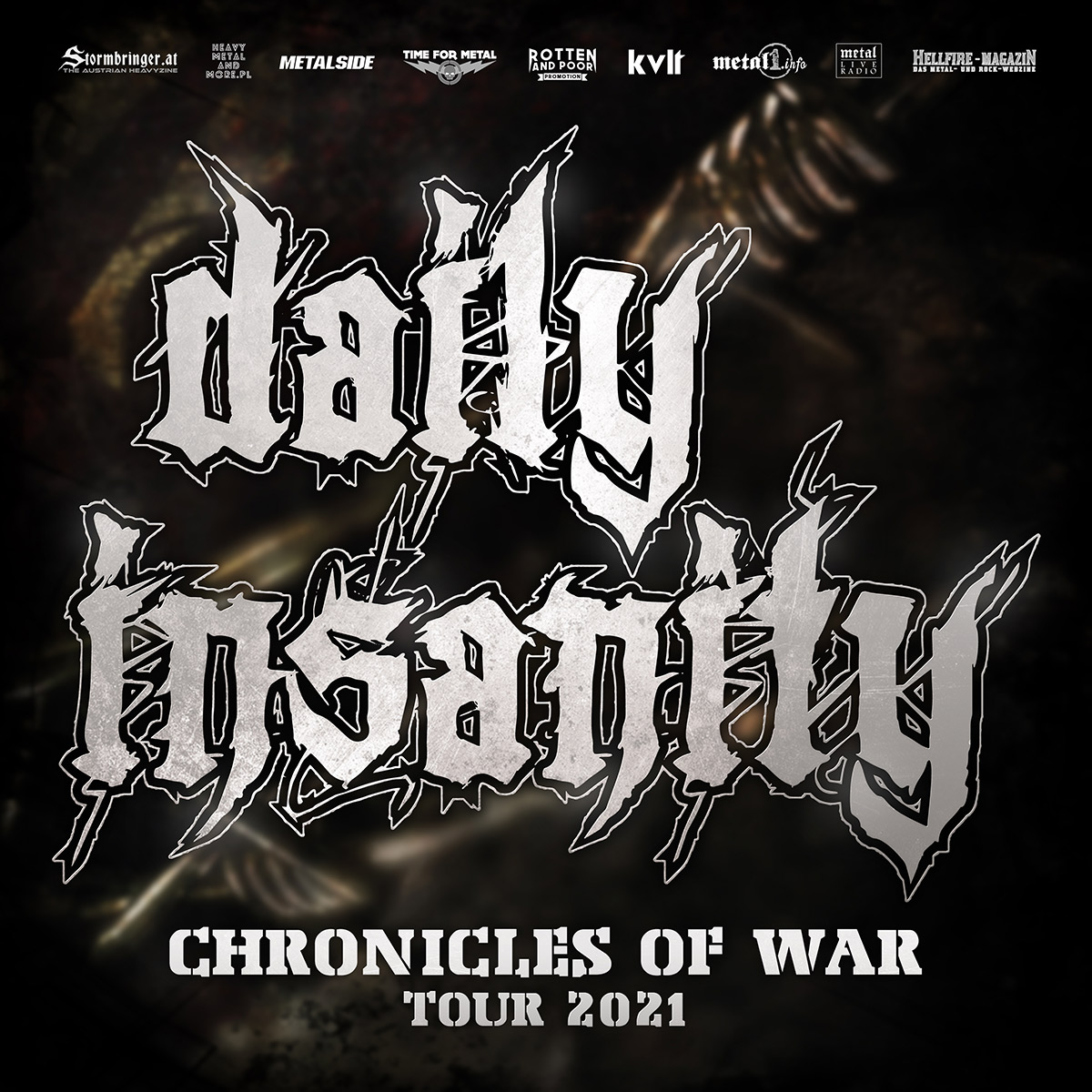 Daily Insanity - Chronicles Of War Tourflyer 2021