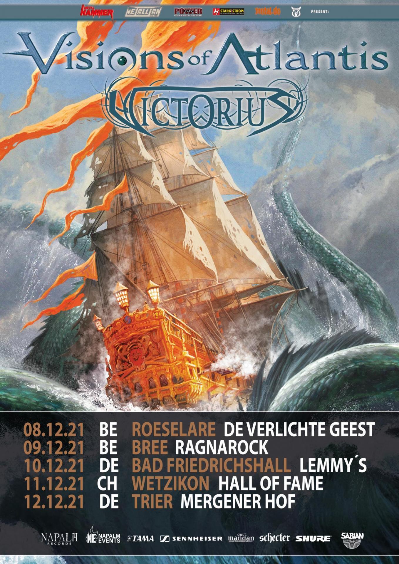 Visions Of Atlantis European Tour 2021 Flyer