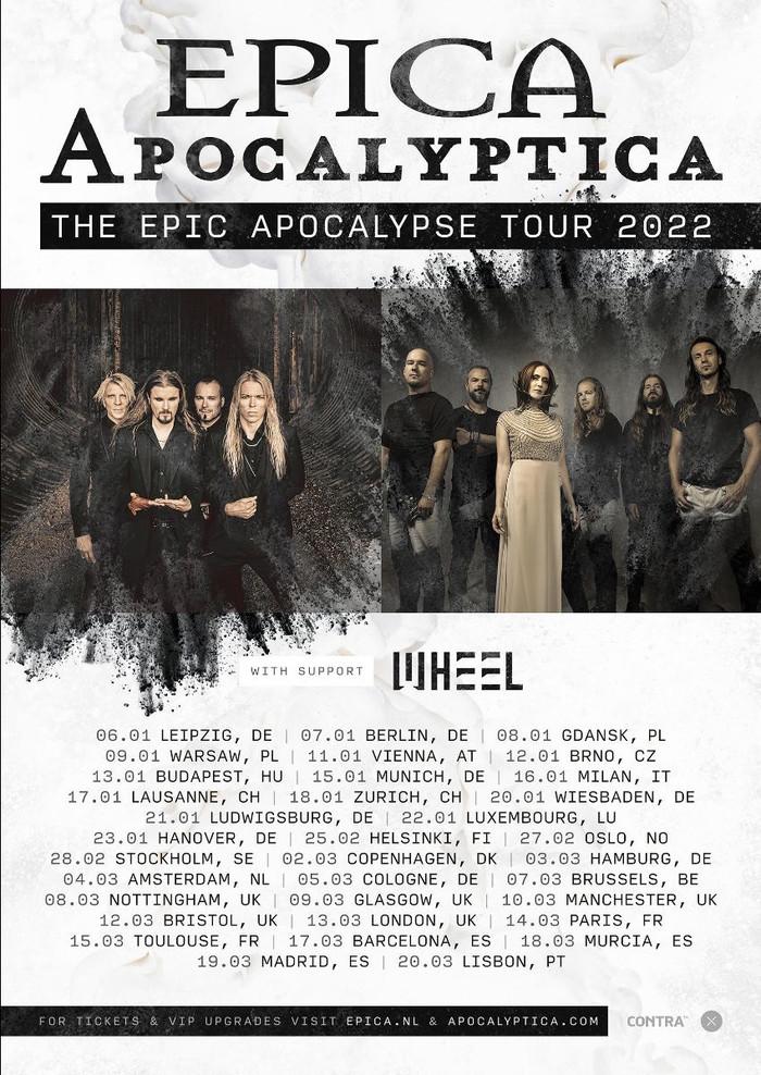 Apocalyptica & Epica - The Epic Apocalypse Tourflyer 2022