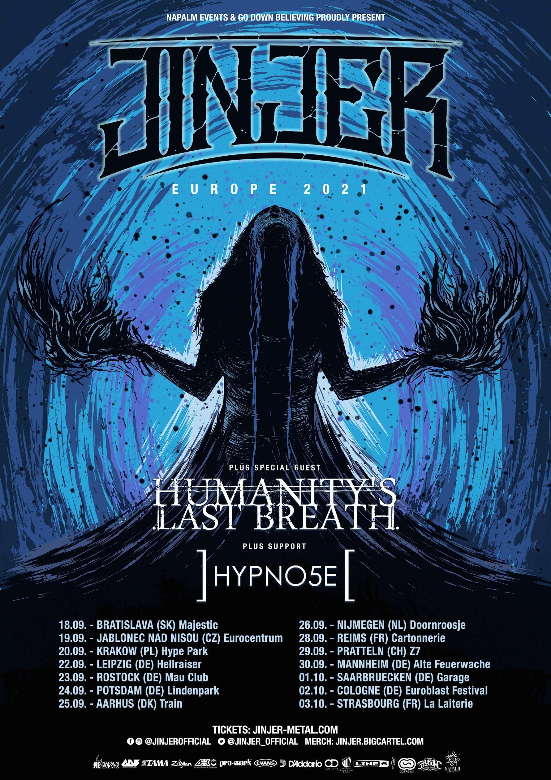 Flyer - Jinjer - Humanity's Last Breath Tour 2021