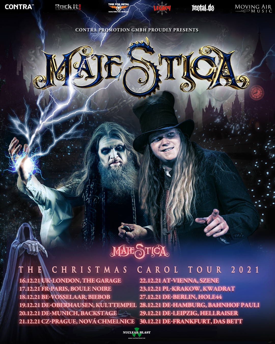 Majestica The Christmas Carol Tour 2021 Flyer