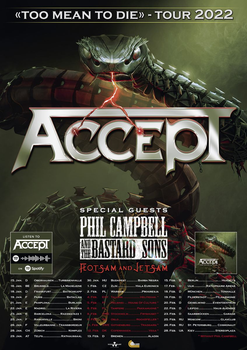 Accept - Too Mean To Die Tour 2022
