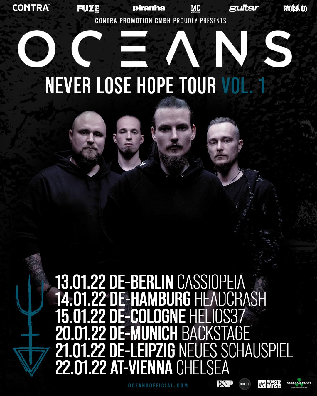 Oceans Never Lose Hope Tour Flyer
