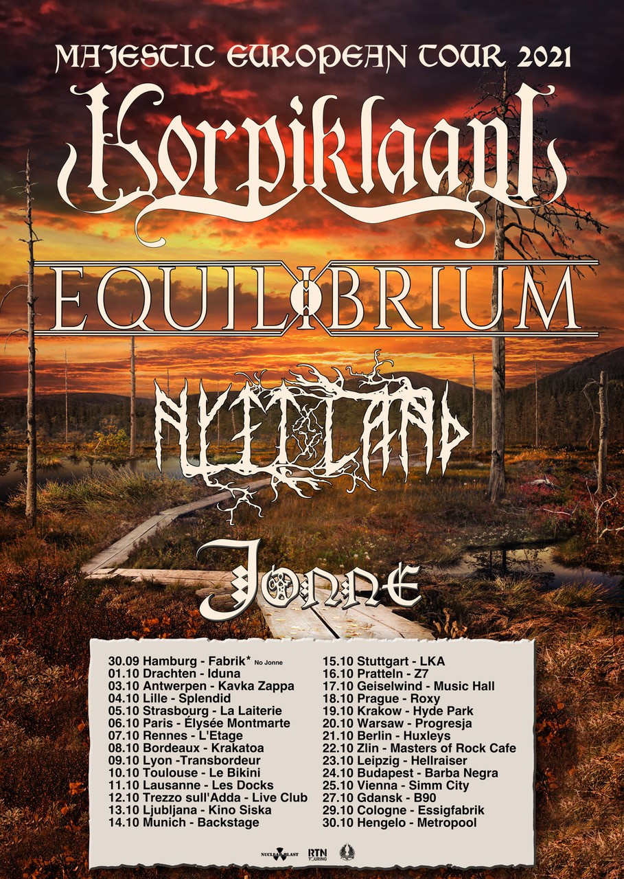 Korpiklaani - Majestic European Tour 2021 Flyer