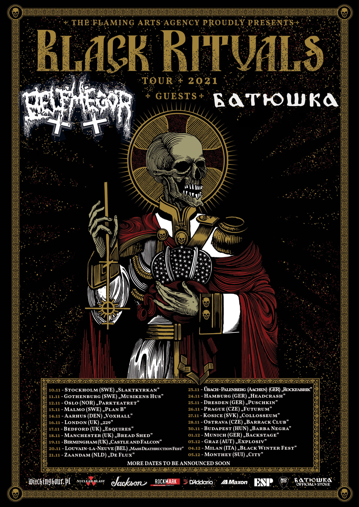 Belphegor & Batushka - Black Rituals Tour 2021
