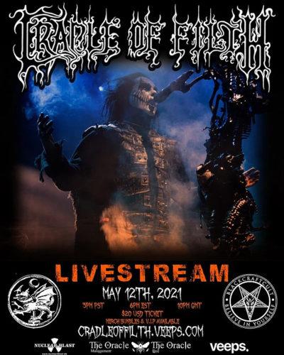 Cradle Of Filth - Stream Show Flyer 12. Mai 2021