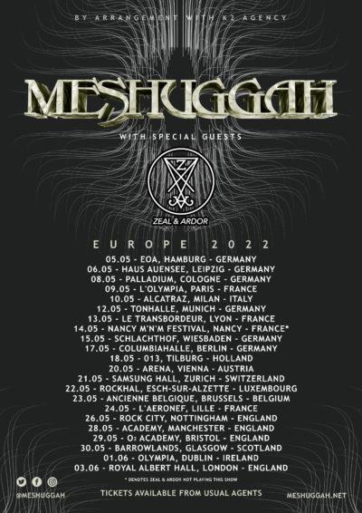 Meshuggah - European Tour 2022