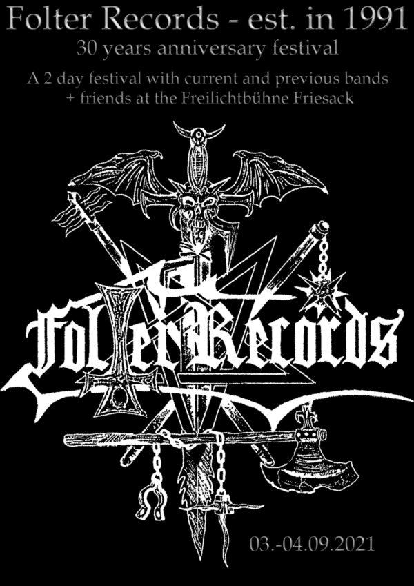 Tourplakat - Folter Records - Festival 30 Jahre