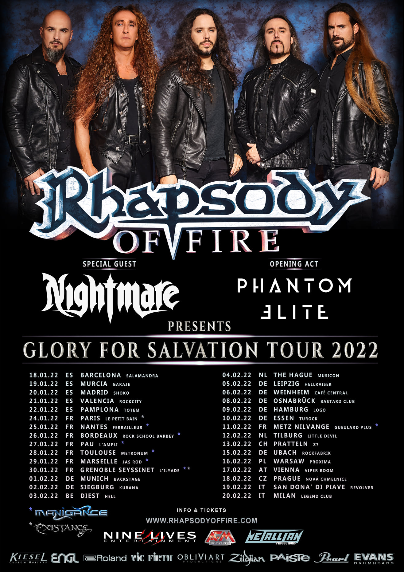 Rhapsody of Fire Tourplakat