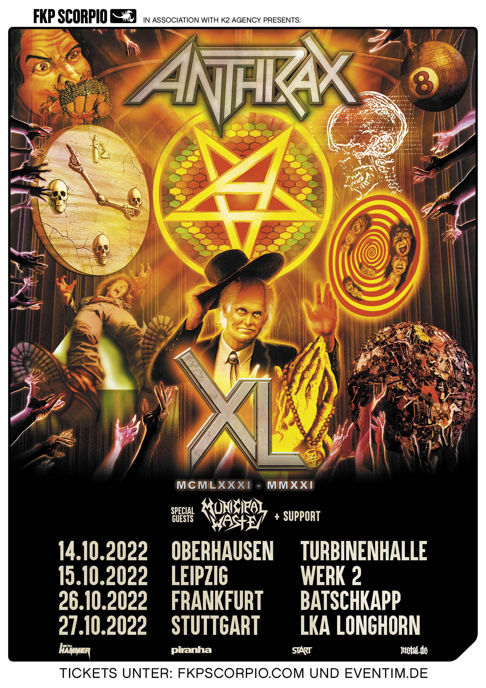 Anthrax Tour Herbst 2022