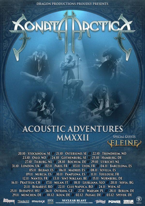 Sonata Arctica - Acoustic Adventures European Tour Plakat